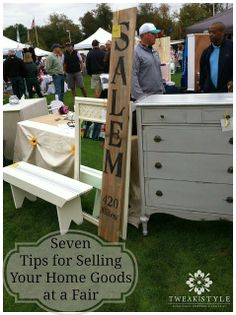 7 Tips For Selling Furniture and Home Goods at a Vendor Fair - Tweak & Style