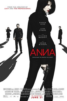 Anna (stylized as ANИA) is a 2019 English-language French action thriller film written, produced and directed by Luc Besson. The film stars Sasha Luss as the eponymous assassin, alongside Luke Evans, Cillian Murphy, Helen Mirren and Alexander Petrov. Movies To Watch Free, Hd Movies, Movies Online, Movie Tv, Netflix Movies, Movies 2019, Horror Movies, Horror Music, Movies Free