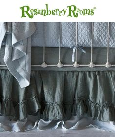 Add layers of luxury to your baby's crib bedding collection with the Linen Whisper Crib Dust Ruffle from Bella Notte Linens