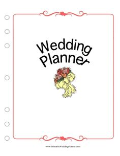 This Wedding Planner Cover Page puts a pretty face on your wedding plans. Free to download and print Wedding Planning Binder, Wedding Binder, Event Planning Business, Best Wedding Planner, Wedding Book, Wedding Tips, Wedding Venues, Wedding Gowns, How To Plan