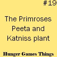 Hunger Games. The day he returned to district 12, he went out and dug up the plants for Katniss!!! So sweet <3