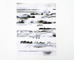 Fu'kei no hohaba - yon kyoku bun no (2013) mimitsu handmade washi paper, arches paper, watercolour, glue 360x260mm