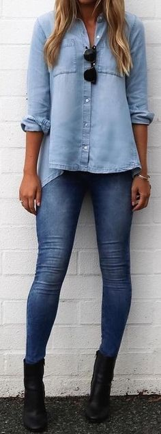 #summer #cool #outfits |  Double Denim