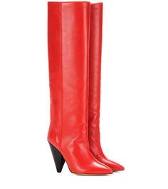 mytheresa.com - Laith leather knee-high boots - Luxury Fashion for Women / Designer clothing, shoes, bags