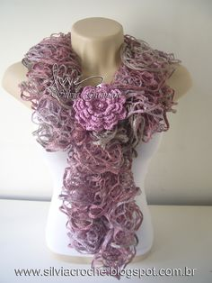 you could crochet flowers to go with the scarves for christmas