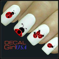 Ladybug Nail Art Decal 32 Water Slide Decals by DecalGirlUSA, $3.85