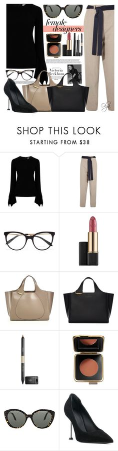"""Victoria Beckham Work Wear"" by olga1402 on Polyvore featuring Victoria Beckham, internationalwomensday, pressforprogress, FemaleDesigners and ByWomenForWomen"