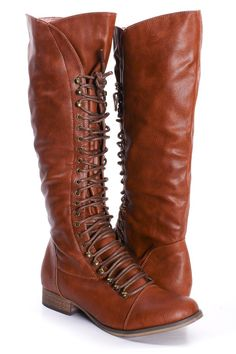 LACE UP KNEE HIGH COMBAT BOOTS