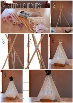Adorable little tent prop, I think I'll make this minus the flower and on a larger scale for say a camping/thanksgiving theme.