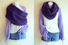 Knit Tube Scarf Shawl Cowl Bolero Shrug Capelet Poncho Neckwarmer Women Clothing Winter Fashion Gift Ideas Can be MADE TO ORDER by GrahamsBazaar, $79.00
