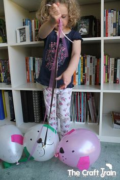 Balloon Puppies by thecrafttrain: Great for those tired helium balloons! #Kids #Crafats #Balloon_Puppies