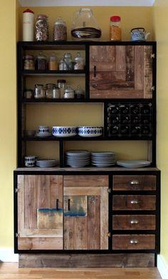 Terrific rustic, handmade (in the UK) cabinets.