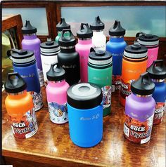 Family of flasks #addiction We have one for Amina and it keeps her water hot for warm bottles! Love love love these. We have 3 total! Get one and they are grime bend, or!!