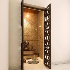 29 Ideas For Pooja Room Door Design Ideas Home Temple Room, Home Temple, Mandir Design, Pooja Mandir, Decor Wedding, Wedding Colors, Wedding Flowers, Pooja Room Door Design, Puja Room