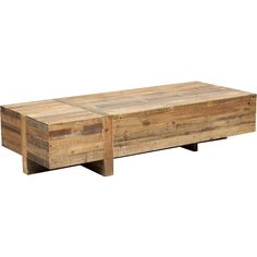 Wynne Coffee Table - $699.00    Standard Features:    Kiln dried hardwood  Salvaged wood, no piece is ever the same    Shown in:Natural  Material detail:Reclaimed Woods  Dimensions:68w 28d 16h  Item No:39731
