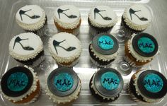 Calumet Bakery M.A.C. cupcakes and Stiletto edible
