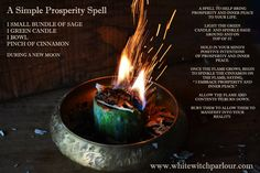 Prosperity Spell ~ Candle Magick Book of shadows easy spell white witch - Pinned by The Mystic's Emporium on Etsy Magick Spells, Candle Spells, Candle Magic, Wicca Witchcraft, Magick Book, Hoodoo Spells, Green Witchcraft, Healing Spells, Feng Shui