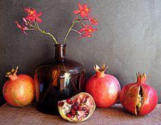 Still Life with Pomogranates by Arina