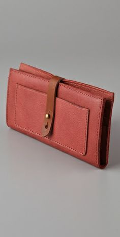 Madewell two tone wallet. love the red leather