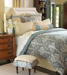 Adelaide Bedding - Bedding Collections - Fine Linens and Accents - Bedding and Bath Home Bedroom, Master Bedroom, Bedroom Decor, Bedroom Ideas, Bedroom Colors, King Size Comforters, Luxury Bedding Collections, Bed Sets, Suites