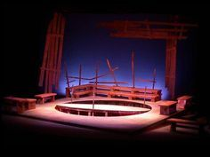 Equus. Set design by Shawn Fisher.
