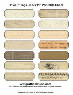Free Printable Labels - Ephemera - The Graffical Muse Vintage Tags, Vintage Labels, Vintage Paper, Free Printable Stickers, Free Printables, Vintage Scrapbook, Scrapbook Frames, Journal Stickers, Journal Labels