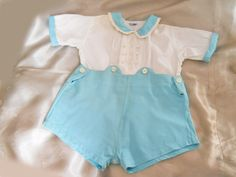 Vintage Baby Clothes // 40s Baby Boy Outfit  <3 these! Have a couple vintage baby boy outfits, just need Griffin to fatten up a bit.