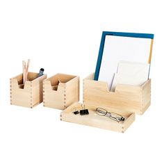 $14.99 FÖRHÖJA Box, set of 4 IKEA Helps you organize small items like desk accessories, make-up and hair bands.