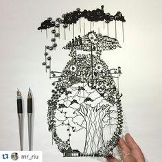 #Repost @mr_riu A beautiful job! ・・・ the title : Totoro…