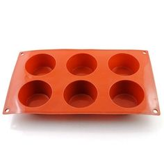 New Vermilion 6 Round Silicone Cookie Baking Mold Muffin Handmade Soap Moulds Biscuit Pan Tray * To view further for this item, visit the image link.