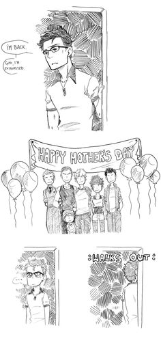 berry-muffin.tumblr.com makes the best comics Gansey, Happy Mother's Day! lol #TRC #TheRavenCycle #Gangsey
