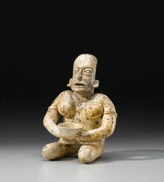 Jalisco Seated Female Figure, Ameca Style, Protoclassic, ca. 100 B.C. - A.D. 250