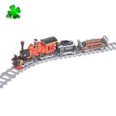 Building Blocks Building Bricks Train Series Steam Train New Year Gift - Blocks