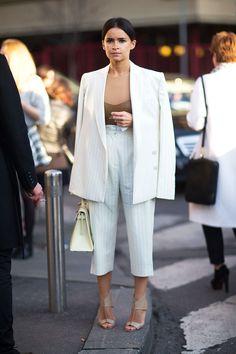 Miroslava Duma style. Miroslava Duma at Milan Fashion Week Fall 2014