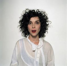 Annie Clark's haircut, take two.  I really like this!
