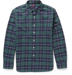 Grayers - Checked Cotton-Flannel Shirt | MR PORTER