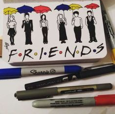 Drawing Cute Things Friends 33 Ideas For 2019 Friends Episodes, Friends Moments, Friends Series, Friends Tv Show, Friends Sketch, Drawings Of Friends, Sharpie Drawings, Easy Drawings, Lyric Drawings