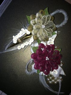 Corsage and boutonnière for Senior ball