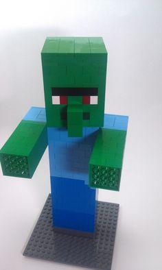 My Lego Minecraft Creations - Other Fan Art - Fan Art - Show Your Creation - Minecraft Forum Lego Minecraft, Minecraft Crafts, Minecraft Skins, Minecraft Buildings, Lego Zombies, Lego Duplo, Lego Ninjago, Manual Lego, Arma Nerf
