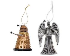 Plastic Doctor Who Christmas Ornament - Weeping Angel and Dalek Doctor Who http://www.amazon.com/dp/B00Q0WRF3W/ref=cm_sw_r_pi_dp_wtCKvb06CNM8M