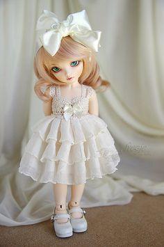 Cream dress - variant for Momocolor 29cm   Flickr - Photo Sharing!