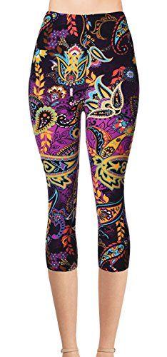 Printed Leggings for Women Romantic Pink Flamingo 3//4 High Waist Yoga Pants Sport Gym Leggings Workout
