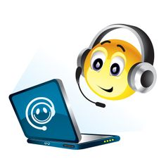 Smiley surfing the net