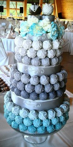 Cake Bite Wedding Cake