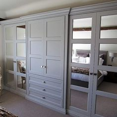 A beautiful collection of fitted wardrobe and bespoke wardrobe designs created by The Heritage Wardrobe Company Diy Storage Wardrobe, Bedroom Built In Wardrobe, Fitted Bedroom Furniture, Fitted Bedrooms, Wardrobe Doors, Closet Bedroom, Bedroom Storage, Bedroom Decor, Dream Bedroom