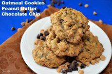 BEST OATMEAL COOKIES WITH PEANUT BUTTER CHOCOLATE CHIPS