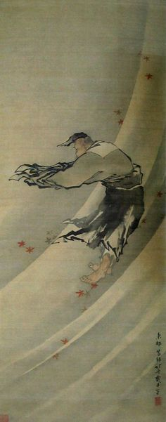 Lieh Tzu In The Sky by Hokusai