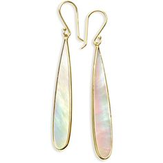 Ippolita 18K Rock Candy Mother-of-Pearl Long Drop Earrings (66,400 INR) ❤ liked on Polyvore featuring jewelry, earrings, white, long earrings, white drop earrings, 18 karat gold earrings, long drop earrings and hammered earrings