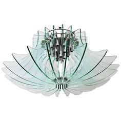 Big Fontana Arte Chandelier, Italy, circa 1960 | From a unique collection of antique and modern chandeliers and pendants  at https://www.1stdibs.com/furniture/lighting/chandeliers-pendant-lights/