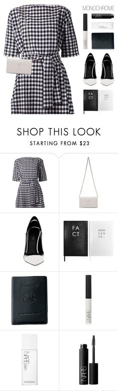 """""""F R I D A Y. N I G H T."""" by starit ❤ liked on Polyvore featuring Chloé, Yves Saint Laurent, Greymer, Sloane Stationery, Royce Leather, NARS Cosmetics and monochrome"""